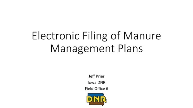 Electronic Filing of Manure Management Plans
