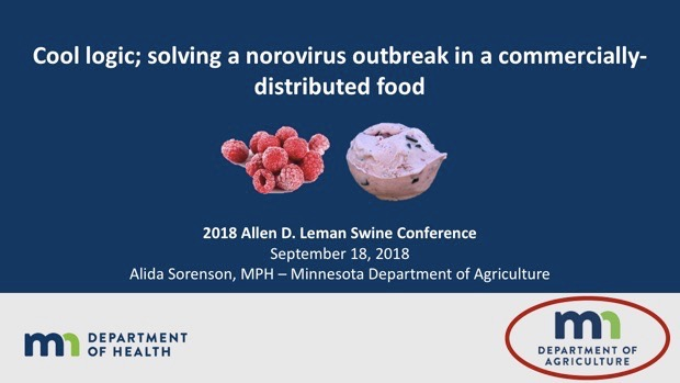 Cool logic; solving a norovirus outbreak in a commercially-distributed food