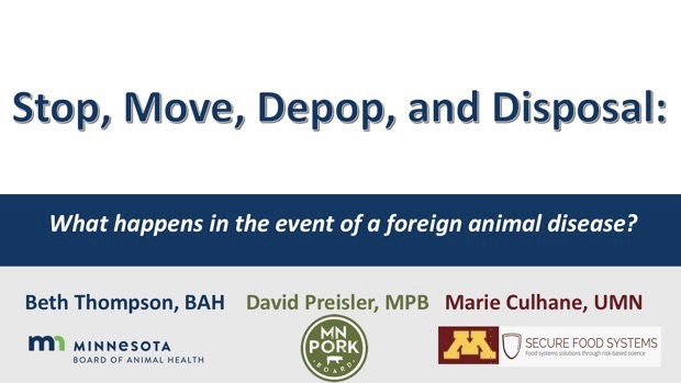 Stop, Move, Depop and Disposal - What Happens in the Event of a Foreign Animal Disease?